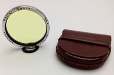 ROLLEI 38mm Bay 3 III Coated AR Anti-reflective SPORT Filter Leather Case EXC