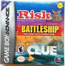 RISK BATTLESHIP CLUE Game Boy Advance SP Gameboy NEW SEALED