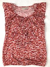 ANN TAYLOR LOFT Sleeveless Tank Top Blouse Multi-Color Reds Size X-Small