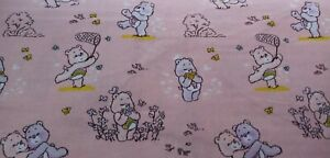 Camelot Care Bears Cheer & Share Pink FQ/Half metre 100% cotton,free p&p,