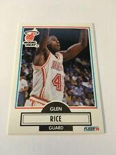 Glen Rice Heat 1990-1991 Fleer #101