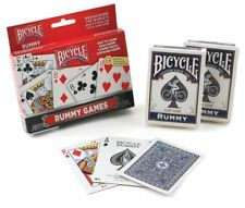 Bicycle 2-Deck Set Rummy Games made by The US Playing Card Company