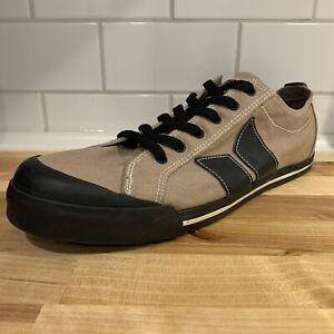 Macbeth Vegan Canvas Textile Shoes Men's US 11 Tan Black Lace Up Casual Skate
