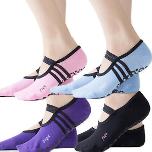 Yoga Socks Women Non Slip Skid Grips Pilates Fitness Ballet Exercise Gym Massage