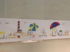 NEW Beach/Sand/Umbrella STENCILED INTERIORS Beach Scene 7 x 26 Wall stencil
