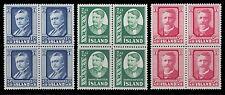 1954 HANNES HAFSTEIN first Icelander TO Danish Cabinet BLK OF 4 NH ST.284 -286