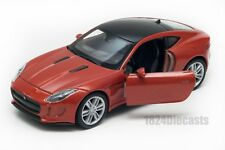 Jaguar F-Type Coupe dark orange, Welly scale 1:34-39, model toy car gift