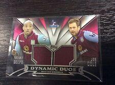 2014 Topps Premier Gold Aston Villa Joe Cole & Fabian Delph Jersey 24/50