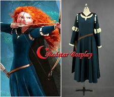 Princess Brave Merida Cosplay Halloween Costume princess Merida dress in anysize