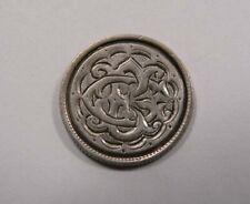 Canada Queen Victoria Victorian Love Token Silver 10 Cents Fancy Engraved E G or