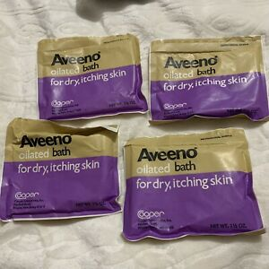 Vintage Aveeno Oilated Bath 1.5oz Skin Moisturizer Colloidal Oatmeal 4pack