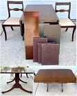 Vtg Duncan Phyfe Drop Leaf Dining Table Chairs Craddock Claw Feet Wood Mahogany
