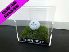 ✺New✺ Golf Ball DISPLAY CASE - Masters PGA Tiger Woods Memorabilia Hole in One