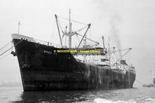 mc1393 - Panama Cargo Ship - Shao An , built 1955 ex Crystal Cube - photo 6x4