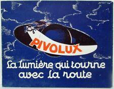 1929-1932 Pivolux Adaptive Swiveling Headlights Sales Brochure - French Text
