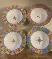 SANGO THE SWEET SHOPPE Rim Soup bowl set of 4, Sue Zipkin