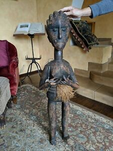 Authentic Baga Africa Tribe Museum Quality Guinea African Art Ceremonial Deity.