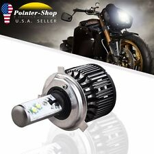 1x 6000K White 40W 4000LM Hi / Lo Motorcycle Bike LED Headlight H4 HB2 9003