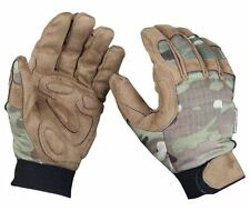 AIRSOFT MILITARY PADDED VENTED CORDURA CAMO GLOVES MULTICAM MTP SMALL
