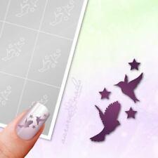 Schablonen für Airbrush und Nailart M425 Vogel Vögel Tiere Herbst Sterne 80Stk