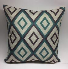 "New Diamond Pattern 18"" Pillow Case Cover, Blue, Beige And Purple"