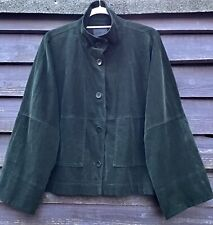 OSKA Bottle Green Cotton/Elastane Needlecord Unlined Jacket Size 3 Regular