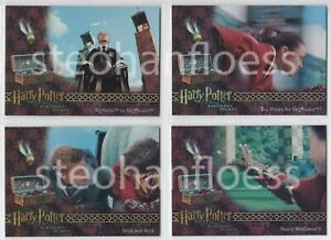 2005 ArtBox Harry Potter and the Sorcerer's Stone Box Topper 4 Card Chase Set