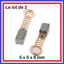 2 Balais de Charbon 5 x 5 x 8mm DREMEL PARKSIDE Série 200 275 285 300 395 3000