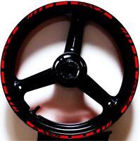 RED BLACK CUSTOM GP RIM STRIPES WHEEL DECALS TAPE STICKERS SUZUKI GSX-S 750 1000
