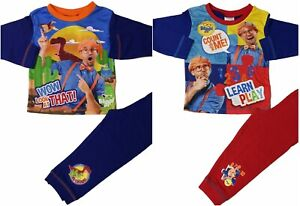 Boys Blippi Pyjamas Pjs Sleepwear