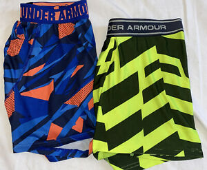 """UNDER ARMOuR Compression Shorts, 2 Pair, Boys Size Large, 4"""" Inseam"""