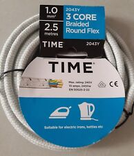 Iron Flex cable 3 core round braided kettle cable 2043Y decorative replacement