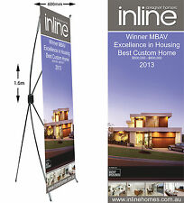 Custom standing banner X frame for business promotional trade shows Events
