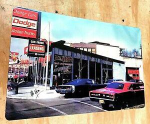 "Mr Norms Grand Spaulding Dodge Dealer Aluminum Sign 12""x18"" Chicago IL"