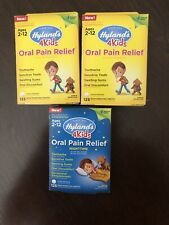 3  Hyland's 4Kids Oral Pain Relief, 2 Day & 1 NightTime, 375 Tabs, Homeopathic