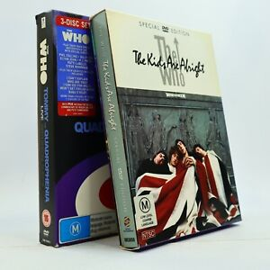 The Who The Kids Are Alright Movie + Quadrophenia & Tommy Live DVD Rare GC