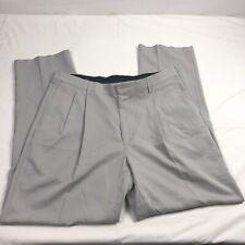 Savane Men's Light Gray Slacks Pleated Front 38x34 100% Polyester