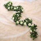 2.5m Artificial Flower Silk Rose Leaf Garland Vine Ivy Home Wedding Garden Décor
