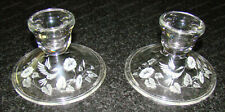 Crystal Hummingbird (Avon) Candle Stick Holders (1980's) 2-Pieces
