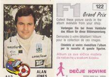 sticker Alan Jones Williams racing FORMULA 1 F1 Grand prix Panini Yugoslavia