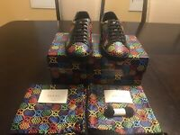 New Gucci Ace GG Supreme Psychedelique Sneaker Shoes Size US 11