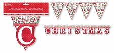 MERRY CHRISTMAS  Banner And Bunting Set Garland  Party Decor Flags Decoration