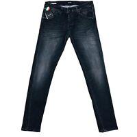 JACK & JONES pour Homme 'S Glenn Slim Fit Taille Basse Gris Jeans Taille W33