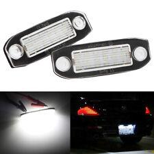 2x LED License Plate Light for Volvo S80 XC90 S40 V60 XC60 S60 C70 V50 XC70 V70