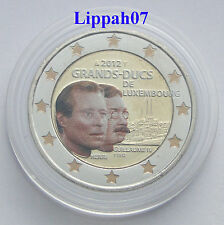 Luxemburg speciale 2 euro 2012 Guillaume / Wilhelm IV gekleurd/coloriert/farbig
