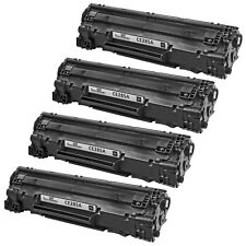 4pk Reman HP CE285A 85A Blk LaserJet Pro M1132 M1212nf M1217nfw MFP P1102 P1102W