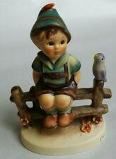 "New ListingGoebel Hummel W. Germany 4"" Figurine 111 3/0 Wayside Harmony Boy On Fence Tmk 5"
