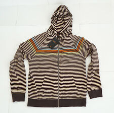 NEW Supreme Ben Sherman Hoodie Beige Brown Striped Multicolor, Size S