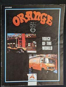 Vintage 1970s ORANGE AMPS AMPLIFIER Catalog Catalogue Mixer RARE London