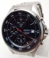 Seiko Chronograph Blue Dial Mens Watch SKS549